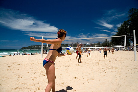 Englisch Sprachreise in Sydney Manly, Australien - Volleyball - Beach
